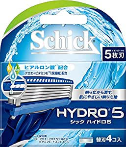 シック Schick 5枚刃 ハイドロ5 替刃 4コ入 男性カミソリ