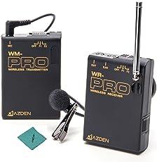 AZDEN WLX-Pro/1 プロクリップ式 VHFワイヤレスマイクシステム Andoerクリニングクロス付き ネットワークアンカーDSLR ILDCカメラビデオ録画用 ニュース インタビュー用 教授システムトレーニング用 Sony 190P 150P 250P 390P用 Panasonic 700P 330P 180P用 BMCC BMPC用