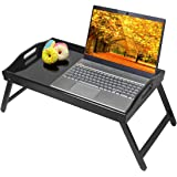 Breakfast Tray Bed Tray Table with Folding Legs Kitchen Platters Serving Tray Foldable TV Table Laptop Computer Desk Snack Tr
