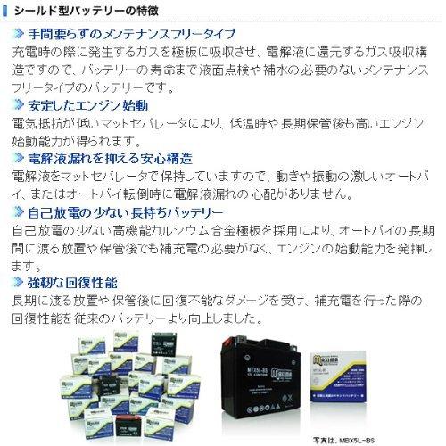 マキシマバッテリー MT4B-5 シールド式 ロードサービス付き バイク用 4B-5 DR-Z50 セピア AF50-2 ZZ(ジーツー)