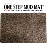 One Step Mud Mat Original Made in England 19W x 31L Small Door Mat.(Brown) Indoor Floor Mat with Non Slip Backing Traps Mud and Dirt Perfect for Pets Excellent for High Traffic Areas