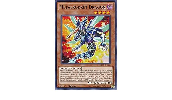 Metalrokket Dragon EXFO-EN008 Yu-Gi-Oh 1st edition Rare