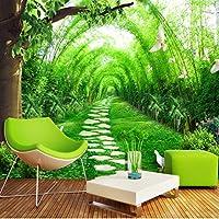 Weaeo カスタム任意のサイズ3D壁紙の壁紙竹林の森の壁の装飾リビングルームのベッドルームテレビの背景写真の壁紙ロール-280X200Cm