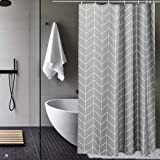 AooHome シャワーカーテン 防水 防カビ 120x150cm ユニットバス 浴室 高密度 速乾 加重 加厚 ストラ…