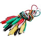 """Haobase 10pcs Double End Alligator Clips,Connector Test Lead Set with Crocodile Clamps Jumper Wire(Length: 50cm/19.7"""")"""