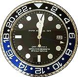 【T&m】ロレックス好き必見‼ GMTマスター2モデル壁掛け時計 (青・黒)