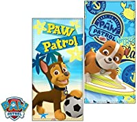 Paw Patrol Surf文字ビーチタオルOficialモデルCan Vary ( Exclusiveモデル) sqe4198