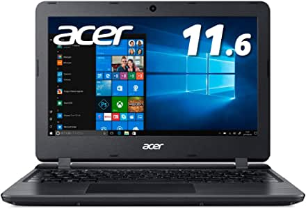 Acer ノートパソコン11.6型 Office搭載 Celeron 4GB 64GB eMMC ブラック  Windows10 Home(Smode) Office H&B 2019 A111-31-A14PA/F【Amazon.co.jp 限定】