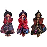 """Fashionclubs Halloween Hanging Witch Decoration Toys,3pcs 8"""" Hanging Ornaments Flying Witches Halloween Haunted House Hanging"""