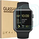 Tourist [3 Pack] Compatible for Apple Watch Tempered Glass Screen Protector 42mm Series 3/2 / 1, 9H Hardness, Anti-Scratch, A