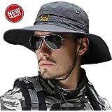 サファリハット メンズ 大きいサイズ UPF50+ つば広 プレゼント UVカット 帽子 折り畳み サイズ調節可能 2WAY 汗止め 日焼け 速乾性 軽量 防風 あご紐付き 釣り 登山 ハイキング ゴルフ 自転車 スポーツ ハット