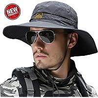 サファリハット メンズ 【UPF50+ 通気性抜群 つば広】大きいサイズ プレゼント UVカット 帽子 折り畳み サイズ…