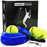 AmazeFan Tennis Trainer Rebound Baseboard with 3 Long Rope Balls Great for Singles Training, Self-Study Practice, Tennis Trai