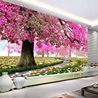 Sproud カスタムの壁紙シンプルロマンチックな桜の木のソファテレビ背景ステレオ壁画壁カバー 3 D 家の装飾の写真壁紙 400 Cmx 280 Cm