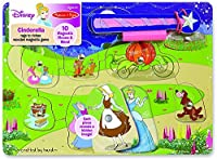 Melissa & Doug Disney Cinderella Rags to Riches Wooden Magnetic Game With 10 Magnetic Pieces and Wand [並行輸入品]