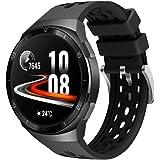 Comtax For HUAWEI Watch GT2e バンド 専用 シリコンバンド 交換ベルト スポーツバンド ファーウェイ ウォッチ Watch GT 2 46mmスマートウォッチ対応 (ブラック)