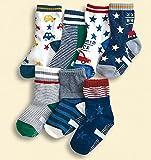 ( bambini ) ベビー ジュニア サイズ 靴下 アメリカン カジュアル デザイン 車 星模様 ボーダー スポーティ (15~19㎝)