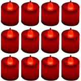 LANKER 12 Pack Flameless Led Tea Lights Candles - Flickering Long Lasting Battery Operated Electronic Fake Candles – Decorati
