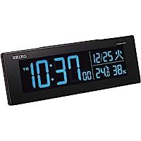 セイコークロック 置き時計 01:黒 本体サイズ:7.3×22.2×4.4cm 電波 デジタル 交流式 カラー液晶 シリ…