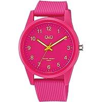 [シチズン Q&Q] 腕時計 アナログ 防水 ウレタンベルト VS40-009 ピンク