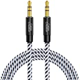 Aux Cable for Car, CableCreation 3.5mm Cotton Braided Aux Cable (10ft/3M,Hi-Fi Sound),Audio Auxiliary Male to Male Aux Stereo