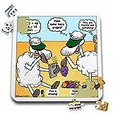 リッチDiesslin The Cartoon Old Testament–聖書エレミヤ230106会計羊Sheep Fruitful Multiplyブドウフルーツ会計Sheep–10x 10インチパズル( P。_ 19593_ 2)