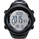 Mountaineering Watch with Altimeter Barometer Compass Thermometer Digital Sports Watches for Men Weather Forecast Comfortable
