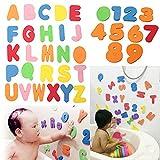 Best アルファベットのおもちゃ - ?36 枚アルファベットパズル 子ども知育おもちゃ お風呂のおもちゃ アルファベット数字  浴槽パズル 子供の面白いソフトおもちゃ EVA 浮遊遊びグッズ Review