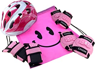 J@G ヘルメット こども用 子供 自転車 超軽量 調整可能 プロテクター セット ナップサック付き ペダルなし自転車と一緒に