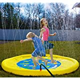 splashin'kids 170cm Sprinkle and Splash Play Mat toy for infants toddlers and kids - perfect inflatable outdoor sprinkler pad