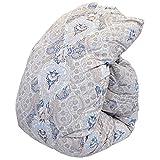 東京西川 羽毛布団 シングル 日本製 ウクライナ産 シルバーグースダウン90% 1.2kg 「Cocoroシリーズ Kasumi(かすみ)」ブルー 立体キルト 掛け布団 150×210cm