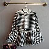 ルテンズ(Lutents)女の子 子供服 上着+スカート タータンチェック 長袖 2点セット Tシャツ 柔らか 着心地 お祭り パーティー ダンス 日常生活 カジュアル 可愛い 0-7歳 誕生日 プレゼント