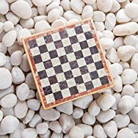 Rusticity Marble Chess Set with Folding Board and Chess Pieces | Handmade |(6.5x6.5 in) [並行輸入品]