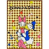 大人気 ドナルド & デイジー フランネル素材 ハーフケット 100×140cm 大人 から 子供 にも 人気 の かわいい Disney キャラクター の ひざ掛け ふわふわ で  あったかい なめらかな 触り心地 で赤ちゃんにも安心 女性 に オススメ の ブランケット (ドナルド&デイジー)