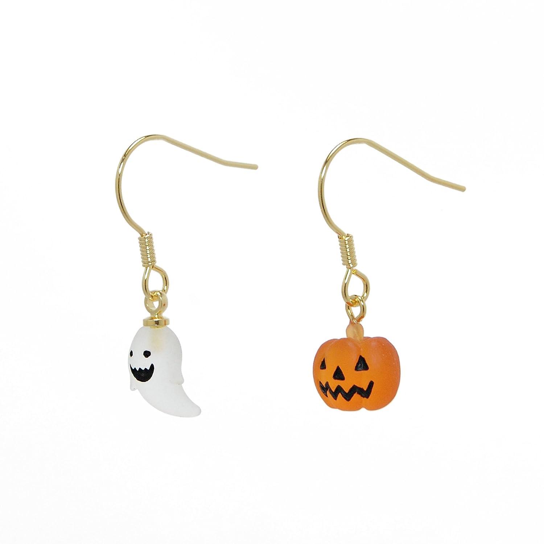 drop.ハロウィン おばけ×かぼちゃピアス
