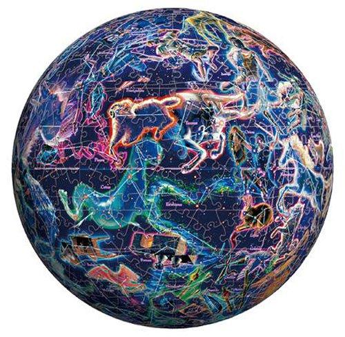 3D球体パズル 540ピース 自転儀 -セレスティアルグローブ-【光るパズル】 (直径約22.9cm)