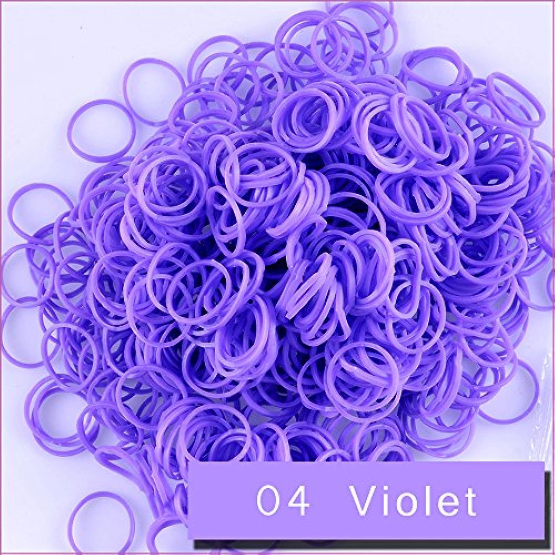 Kirinstores (キリンストア) (TM) 6000 本 クリップ 240 個 ゴムバンド リフィル Loom Rainbow Refill Bands Bracelets Dress Making (ルーム レインボー ブレスレット ドレス メーキング) バイオレット (Violet)