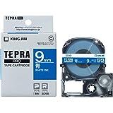 キングジム テープカートリッジ テプラPRO 9mm  SD9B 青/白文字