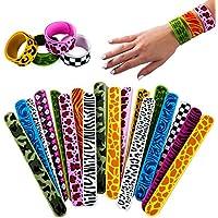 Tigerdoe Silicone Slap Bracelets - 18 Pcs - Slap Bands for Kids - Jungle Theme Party Supplies - Animal Party Favors
