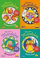 Pixi kreativ Serie Nr. 32. 4er Bundle: Neue magische Mandalas (4x1 Exemplar): Malen und entspannen fuer Kinder - mit 2 Postkarten zum Heraustrennen!