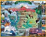 ホワイトMountainパズルWashington State–1000ピースジグソーパズル