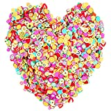 3D Fruit Polymer Slices 15000 PCS, YOUYOUTE Fruit Slime Supplies/Charms Slime Acessories/Slime Add ins/Polymer Clay/DIY Nail Art marking kit Cute Designs decoration Arts Crafts Bulk Homemade Variety