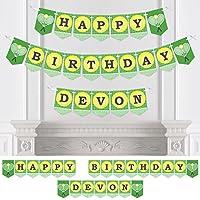 Bigドットの幸せのPersonalized you got served – テニス – カスタムテニスボール誕生日パーティーホオジロバナー&デコレーションカスタム名 – Happy誕生日バナー