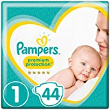 Pampers Premium Protection, Size 1 Newborn (2kg to 5kg), 44 Nappies, For Unbeatable Skin Protection