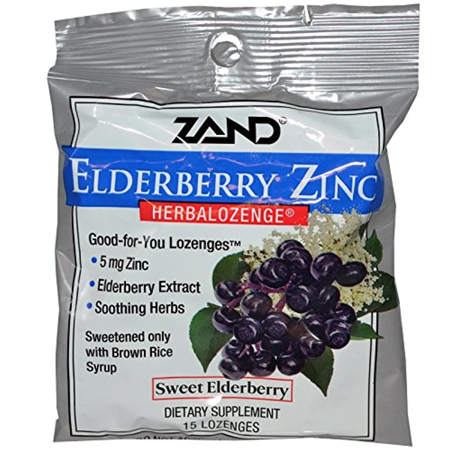 その結果沿って証書Zand, Elderberry Zinc、Herbalozenge、エルダーベリー、キャンディートローチ【2個組】 [並行輸入品]