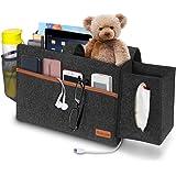 Simboom Bedside Bunk Bed Organizer Felt Hanging Storage Bag with Tissue Box and Water Bottle Pocket, Magazine Books Holder fo