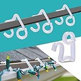 BYYL Christmas Light Hooks Christmas Mini Gutter Hang Hooks Weatherproof Plastic Clip Hooks for Festival Decoration Outside S