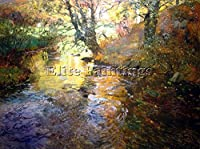 Thaulow Fritz At Quimperle ARTIST PAINTINGハンドメイドオイルキャンバスREPROアールデコ 18x24inch US26338-a