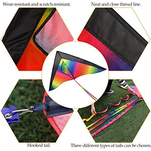 BESTOYARD カイト 凧 カラフル 虹カイト 簡単に揚げる凧 凧糸込み アウトドア