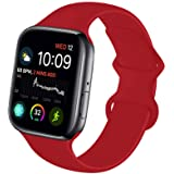NUKELOLO Sport Band Compatible with Apple Watch 38MM 40MM 42MM 44MM,Soft Silicone Replacement Strap Compatible for Apple Watc